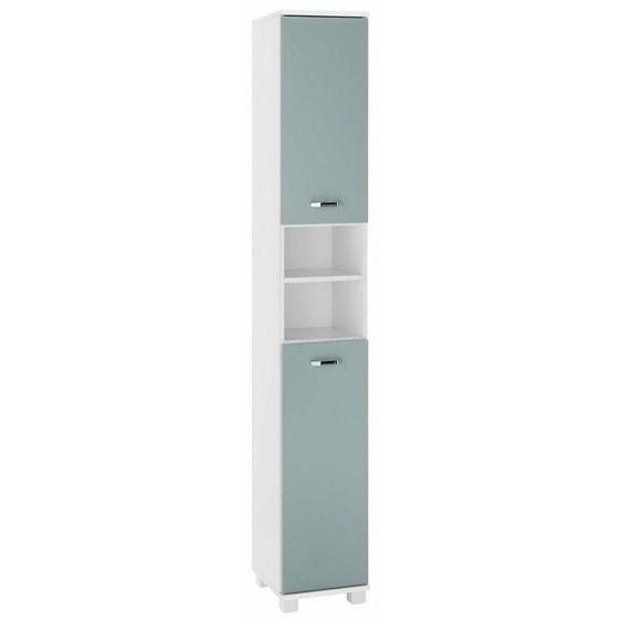 Schildmeyer Hochschrank »Colli« Höhe 193,7 cm, Badezimmerschrank mit Metallgriffen, Ablageböden hinter den Türen, praktischer Stauraum in den offenen Fächern