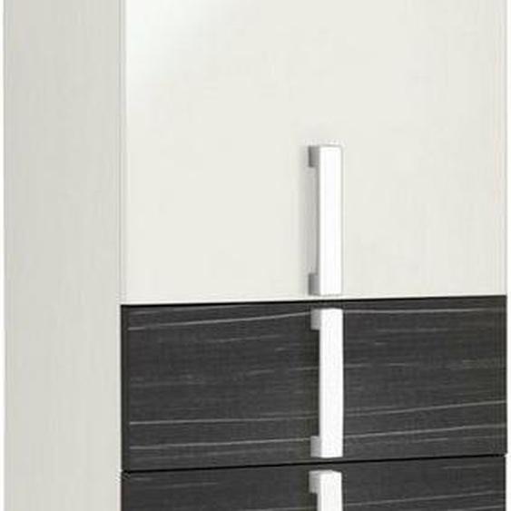 Schildmeyer Hochschrank »Kampen« Höhe 163,7 cm, Badezimmerschrank mit Metallgriffen, Türen mit Soft-Close-Funktion, wechselbarer Türanschlag und 3 praktische Schubladen