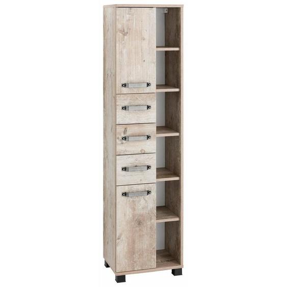 Schildmeyer Hochschrank »Milan« Breite 42 cm, mit 2 Türen, 3 Schubladen & 6 offenen Fächern