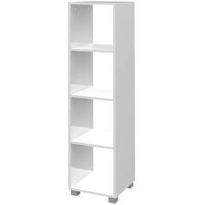 Schildmeyer Lumo Regal 36x33x179,5cm Weiß Glanz