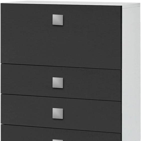 Schildmeyer Midischrank Quadra B/H/T: 65 cm x 133,5 34,5 grau Bad-Midischränke Badmöbel