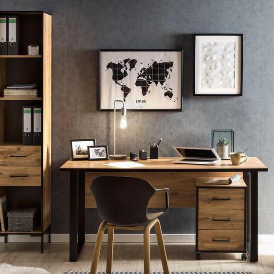 Schildmeyer-Schreibtisch »2000 1600« - schwarz - Holz -
