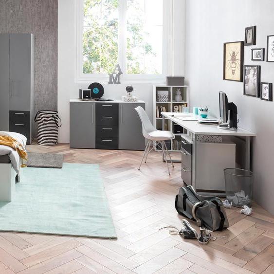 Schildmeyer-Schreibtisch »Laurin«  - silber - Holz -