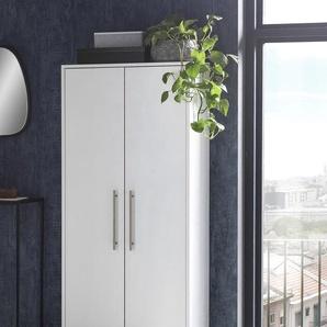Schildmeyer Schuhschrank Pisa B/H/T: 65,1 cm x 163,7 30,0 cm, 2 weiß Schuhschränke Garderoben Nachhaltige Möbel