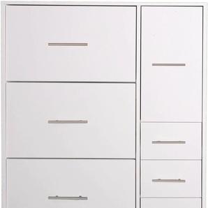 Schildmeyer Schuhschrank Pisa, Breite 88,5 cm, mit 4 Klappen B/H/T: cm x 164 30 2 weiß Schuhschränke Garderoben Nachhaltige Möbel