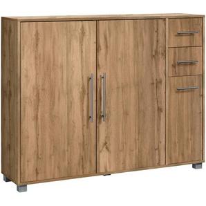 Schildmeyer Schuhschrank Pisa, mit 3 Türen und 2 Schubkästen B/H/T: 132 cm x 104 33 cm, beige Schuhschränke Garderoben Nachhaltige Möbel