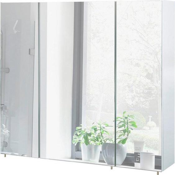 Schildmeyer Spiegelschrank »Basic« Breite 80 cm, 3-türig, Glaseinlegeböden, Made in Germany