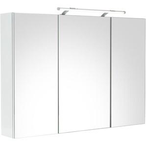 Schildmeyer Spiegelschrank  und Glaseinlegeböden »Dorina«, weiß