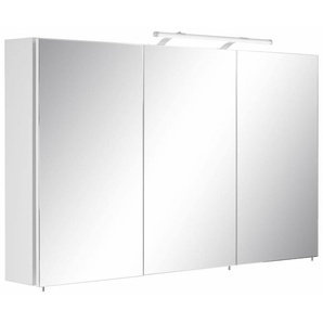Schildmeyer Spiegelschrank  und Glaseinlegeböden, weiß, »Dorina«
