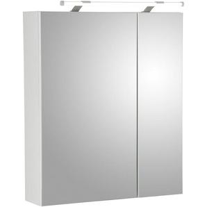 Schildmeyer Spiegelschrank  und Glaseinlegeböden »Dorina«, weiß, verstellbar, ,