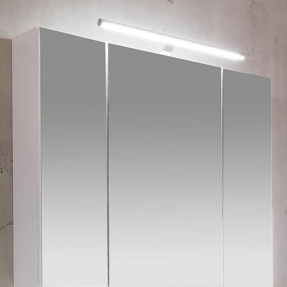 Schildmeyer Spiegelschrank »Irene« Breite 80 cm, 3-türig, LED-Beleuchtung, Schalter-/Steckdosenbox, Glaseinlegeböden, Made in Germany