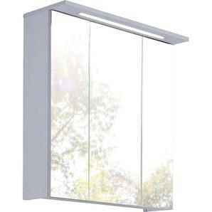 Schildmeyer Spiegelschrank  und 7 Glaseinlegeböden »Profil«, silber