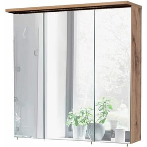 Spiegelschrank  und 7 Glaseinlegeböden »Profil«, Energieeffizienzklasse: A (Skala A++ bis E), Schildmeyer Möbelproduktion