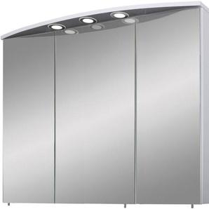Schildmeyer Spiegelschrank »Verona« Breite 120 cm, 3-türig, 3 LED-Einbaustrahler, Schalter-/Steckdosenbox, Glaseinlegeböden, Made in Germany
