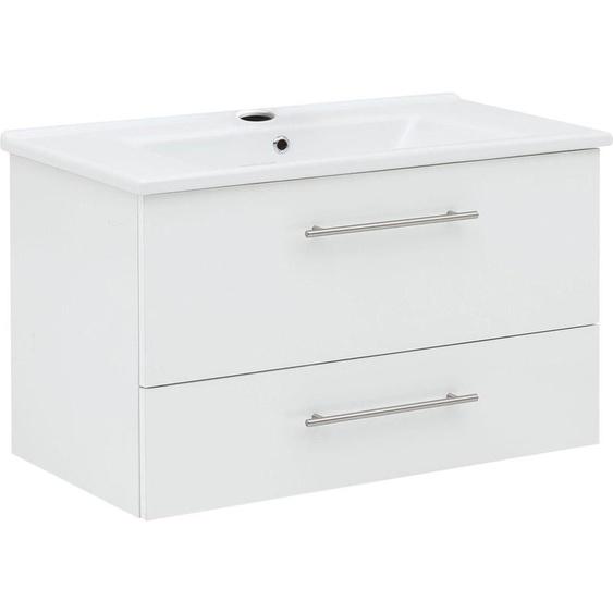 Schildmeyer Waschtisch Basic, mit Keramikbecken Einheitsgröße weiß Waschtische Badmöbel