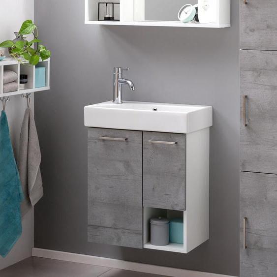Schildmeyer-Waschtisch »WT550 Samu« - grau - Holz -