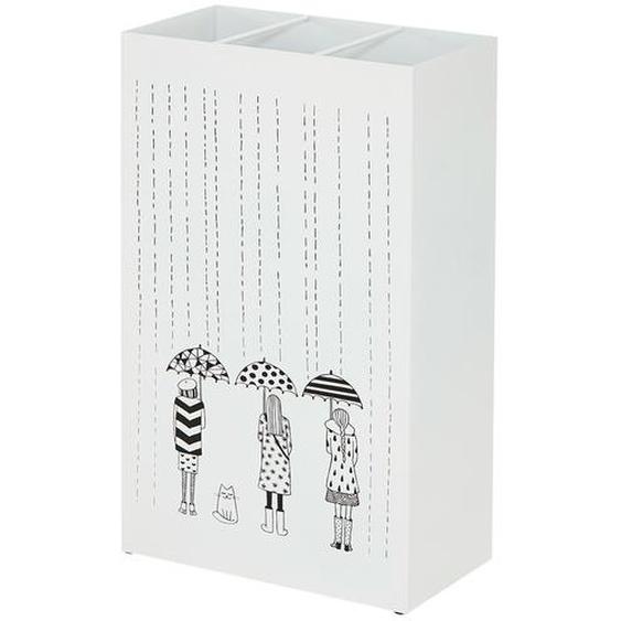 Schirmständer - weiß - Metall | Möbel Kraft