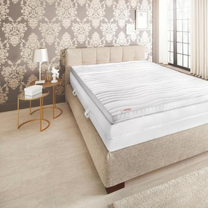 Schlaf-gut Kaltschaum-Topper, 80x190 cm, Klimaband für perfekte Belüftung, beige