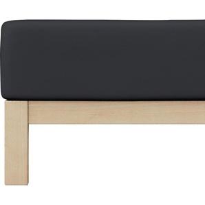 Schlafgut Spannbettlaken Elasthan-Zwirnjersey, für extra-straffen Sitz B/L: 180-200 cm x 200-220 (1 St.), Mako-Zwirn-Jersey, 30 schwarz Bettlaken Betttücher Bettwäsche, und