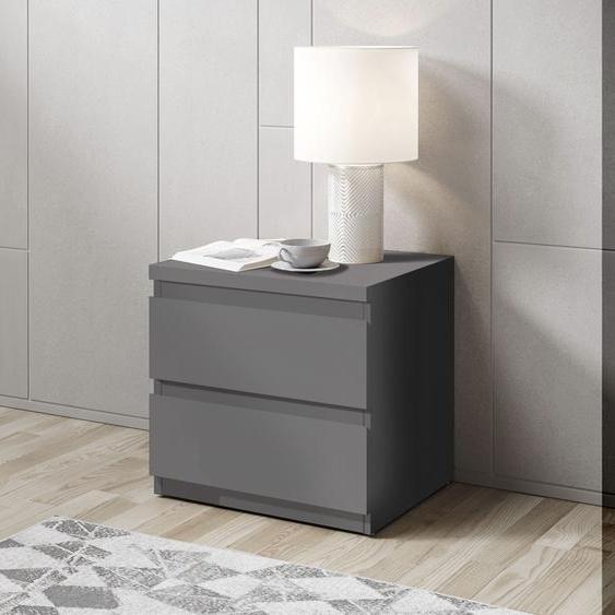 Schlafkontor Nachtkommode Olli B/H/T: 45 cm x 43,6 38 cm, Anzahl Schubladen: 2 grau Nachtkonsolen und Nachtkommoden Nachttische Tische