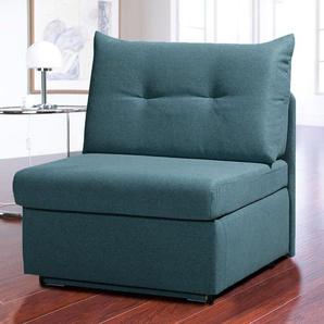 Schlafsessel Retford, grün, klappbare Armlehnen
