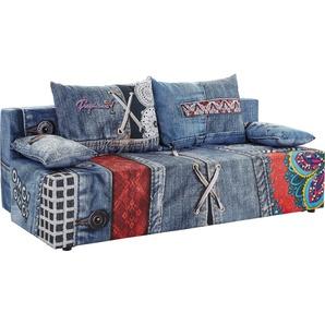 Schlafsofa, blau, 193cm, exxpo - sofa fashion