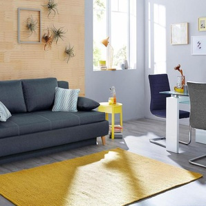 Home affaire Schlafsofa, blau, 205cm, FSC®-zertifiziert