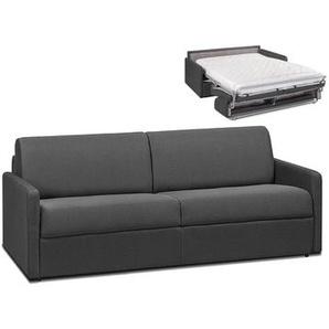 Schlafsofa 4-Sitzer Stoff CALIFE - Grau - Liegefläche: 160 cm - Matratzenhöhe: 14cm