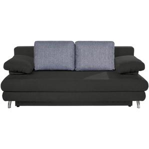 Schlafsofa grau - Webstoff Calina ¦ grau ¦ Maße (cm): B: 205 H: 80 T: 100 Polstermöbel  Sofas  2-Sitzer » Höffner