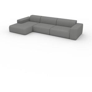 Schlafsofa Granitweiß - Elegantes, gemütliches Bettsofa: Hochwertige Qualität, einzigartiges Design - 345 x 72 x 168 cm, konfigurierbar