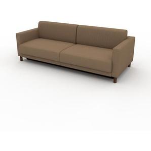 Schlafsofa Karamellbraun - Elegantes, gemütliches Bettsofa: Hochwertige Qualität, einzigartiges Design - 224 x 75 x 98 cm, konfigurierbar