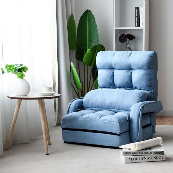 Schlafsofa Lazy Klappsofa Schlafsessel für Zuhause und Büro Blau