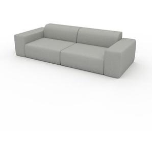 Schlafsofa Lichtgrau - Elegantes, gemütliches Bettsofa: Hochwertige Qualität, einzigartiges Design - 268 x 72 x 107 cm, konfigurierbar