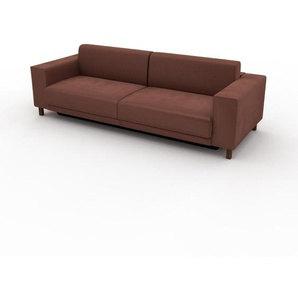 Schlafsofa Altrosa - Elegantes, gemütliches Bettsofa: Hochwertige Qualität, einzigartiges Design - 248 x 75 x 98 cm, konfigurierbar