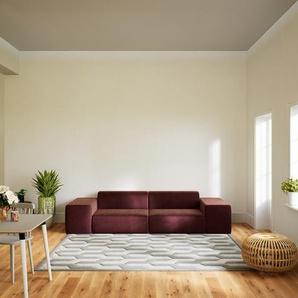 Schlafsofa Samt Altrosa - Elegantes, gemütliches Bettsofa: Hochwertige Qualität, einzigartiges Design - 296 x 72 x 107 cm, konfigurierbar
