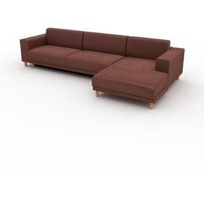 Schlafsofa Altrosa - Elegantes, gemütliches Bettsofa: Hochwertige Qualität, einzigartiges Design - 328 x 75 x 162 cm, konfigurierbar