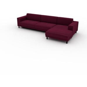 Schlafsofa Brombeerrot - Elegantes, gemütliches Bettsofa: Hochwertige Qualität, einzigartiges Design - 328 x 75 x 162 cm, konfigurierbar