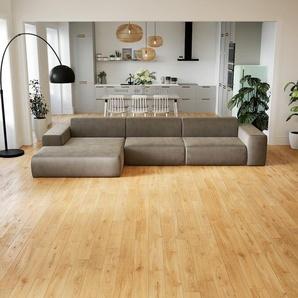 Schlafsofa Cremebeige - Elegantes, gemütliches Bettsofa: Hochwertige Qualität, einzigartiges Design - 370 x 72 x 168 cm, konfigurierbar