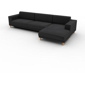 Schlafsofa Steingrau - Elegantes, gemütliches Bettsofa: Hochwertige Qualität, einzigartiges Design - 328 x 75 x 162 cm, konfigurierbar
