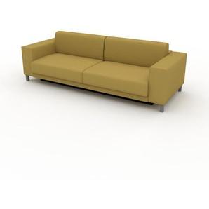 Schlafsofa Senfgelb - Elegantes, gemütliches Bettsofa: Hochwertige Qualität, einzigartiges Design - 248 x 75 x 98 cm, konfigurierbar