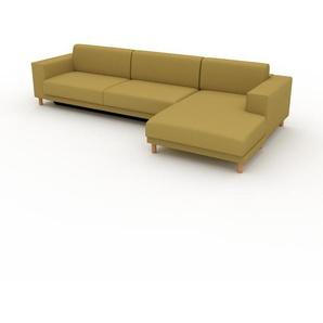 Schlafsofa Senfgelb - Elegantes, gemütliches Bettsofa: Hochwertige Qualität, einzigartiges Design - 328 x 75 x 162 cm, konfigurierbar