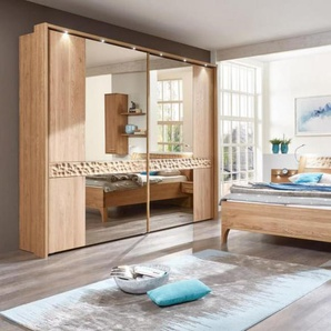 Schlafzimmer Paolo in Eiche natur Optik, ca. 250 cm