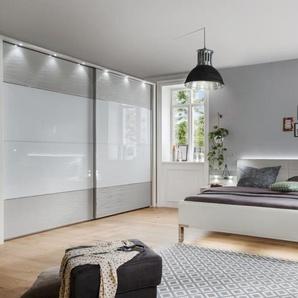Schlafzimmer Cassano Plus in weiß/kieselgrau