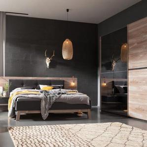 Schlafzimmer Cepina in Picea Pinie-Optik/Basalt
