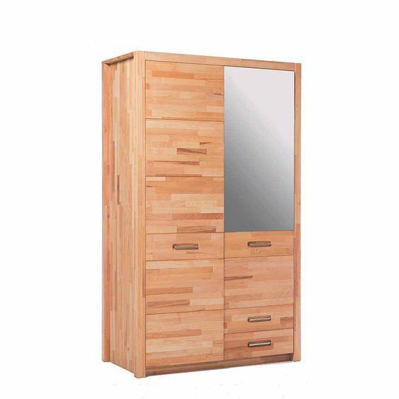 Schlafzimmer Kleiderschrank aus Kernbuche geölt Spiegel
