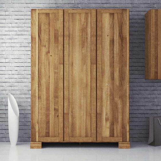 Schlafzimmer Kleiderschrank aus Wildeiche Massivholz 3 Türen