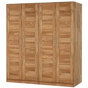 Schlafzimmer Kleiderschrank aus Wildeiche Massivholz 4 türig