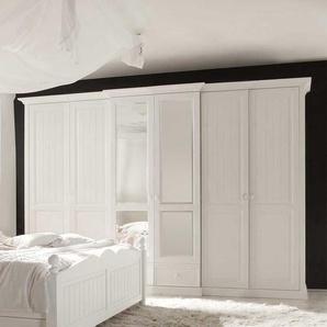 Schlafzimmer Kleiderschrank in Wei� Kiefer Spiegel
