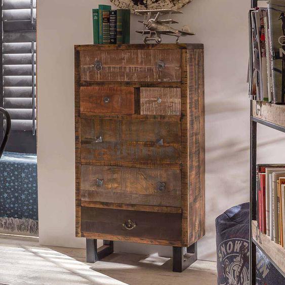 Schlafzimmer Kommode aus Mangobaum Recyclingholz Schubladen