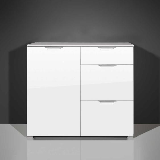 Schlafzimmer Kommode in Hochglanz Weiß